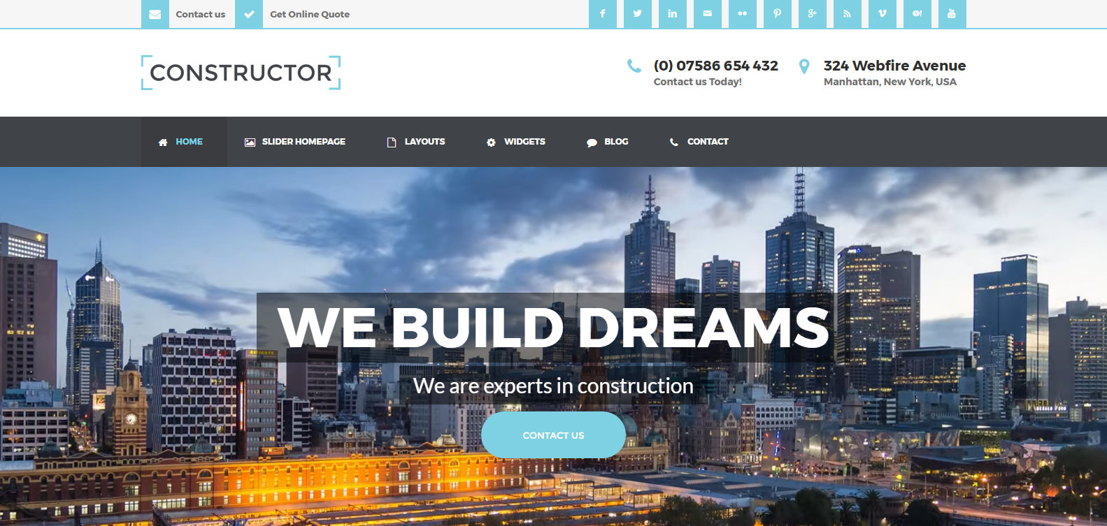 Construction Template for Weebly