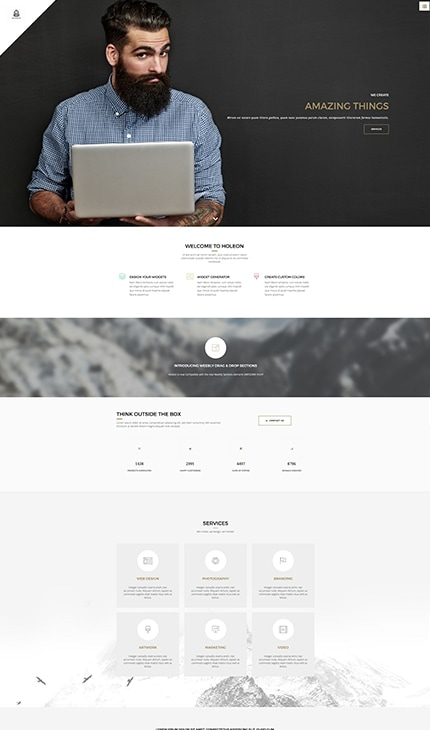 Holeon - Portfolio Weebly Template