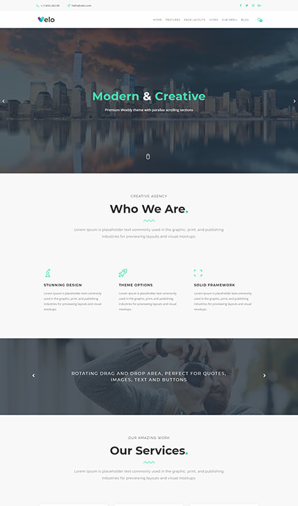 Weebly Themes | Premium Weebly Templates | Webfire Themes - Premium ...
