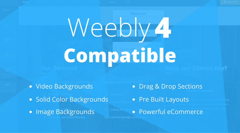 Our Amazing Weebly 4 Premium Themes