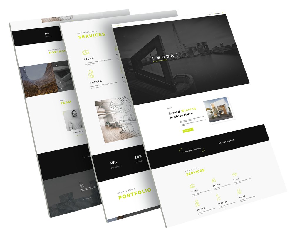 an amazing architect theme designed for weebly