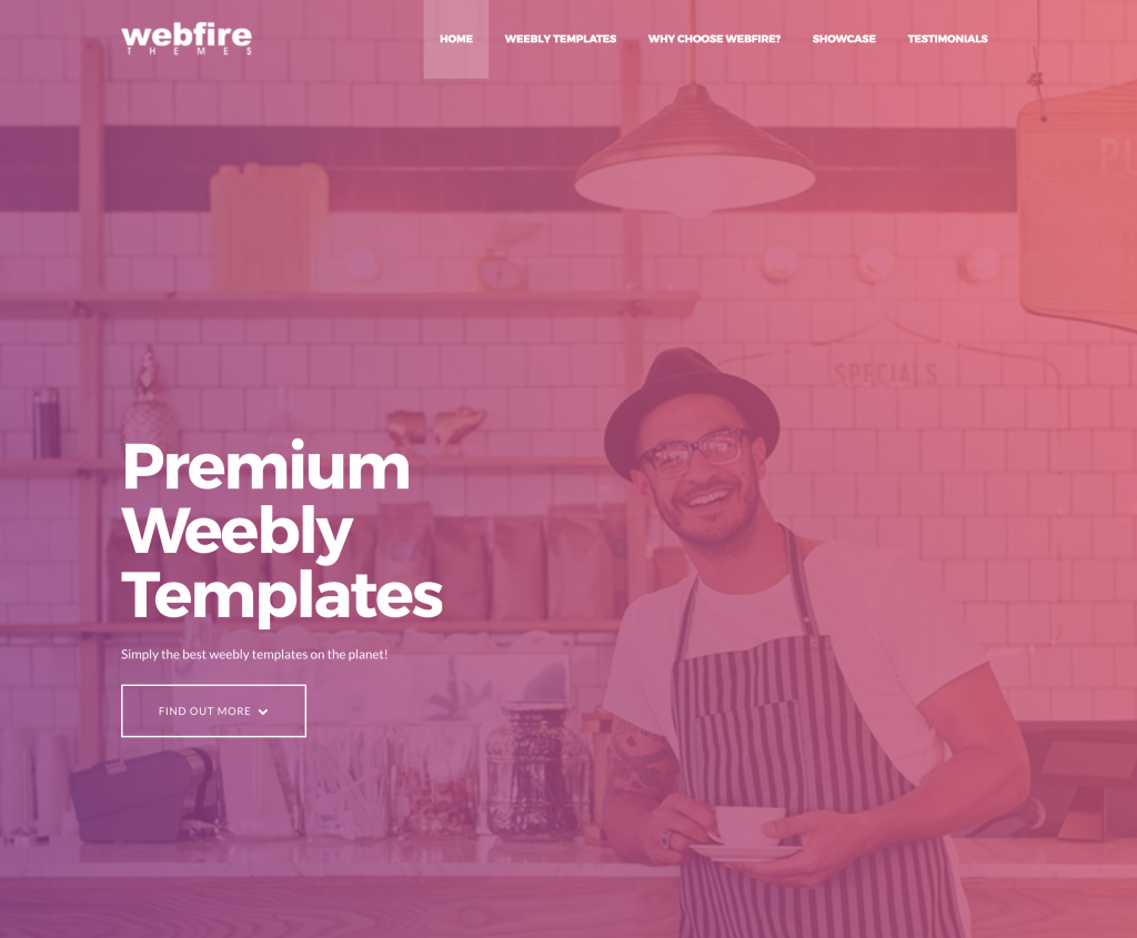 mock up of our new webfire themes template