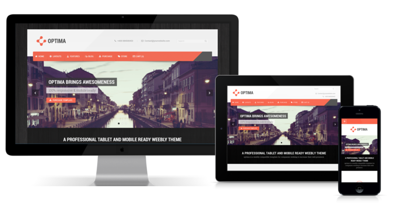 Optima is a responsive weebly template
