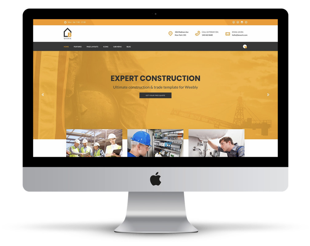 Construction Weebly Template | Bework - Weebly Themes
